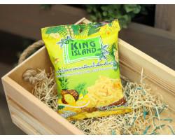 """Кокосовые чипсы  ™ """"KING ISLAND"""" с ананасом ,40 гр."""