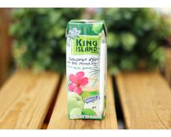 """Кокосовая вода ™ """"KING ISLAND"""" (яблоко,гуава ,лайм) 250 мл."""
