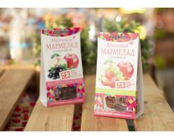 """Мармелад ™ """"Живые Снеки"""" яблочный с клубникой 90 гр"""