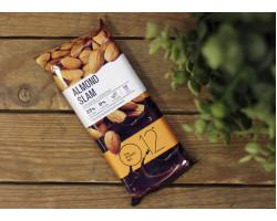 """Вафельный протеиновый батончик ™ """"O12"""" миндаль+шоколад 65 гр."""