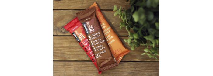 """Батончики ™ """"Ё батон""""20% протеина Шоколад,50 гр"""