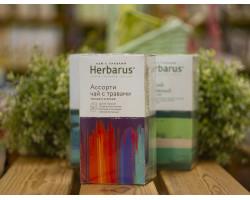 """Чай чёрный и зелёный с травами ™ """"Herbarus"""" Ассорти в фильтр пакетах 24 шт *2г"""