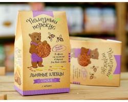 Льняные Хлебцы с медом,100 гр.