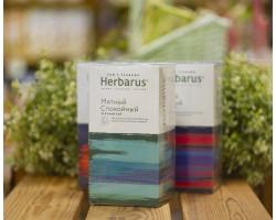 """Чай зелёный с травами ™ """"Herbarus"""" Мятный Спокойный в фильтр пакетах 24 шт *2г"""
