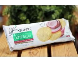 """Хлебцы хрустящие  ™ """" Кэнапс"""" с клетчаткой и луком 70 гр."""