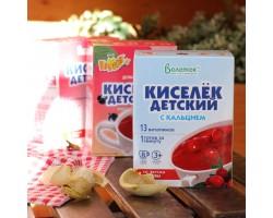 """Кисель """"ВАЛЕТЕК"""" с витаминами и кальцием КЛЮКВА  (25гр.-8 шт )"""