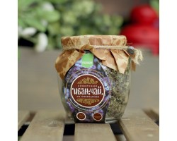 Сибирский Иван-Чай листовой со смородиной, банка 100г